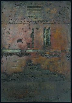 Tanya Bonello, Homage series, No 88, 600x415mm, gypsum and oil on board, 2003