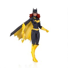 From DC Collectibles, this action figure features a New 52 version of Batgirl. Batgirl's uniform features an extended cape, and bold yellow boots, gauntlets and accessories.  This action figure features multiple points of articulation and measures approximately 6.5 inches.