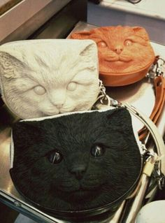 """Cat Face Bags from Bangkok shop """"Something Boudoir"""". I'm waiting for them to set up their online store and praying they'll ship to the US..."""