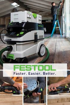 Work faster, easier and better with Festool tools. From sanders and abrasives to amazing HEPA dust extractors, fill your workshop with high quality tools that will last. :: Devine Paint Center, Inc.