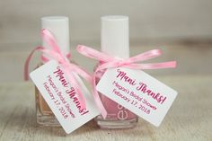 Gift For Friend Girl, Friend Valentine Gifts, Valentines, Baby Shower Thank You Gifts, Baby Gifts, Nail Polish Favors, Party Nails, Thank You Card Template, Wedding Favor Tags