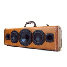 speakers in a suitcase