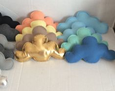 Baby mobile clouds, White baby mobile clouds, Gold baby mobile clouds, Blue baby mobile clouds,