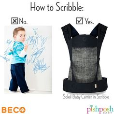 We are LOVING the new prints from Beco - especially the Scribble, available in the Gemini and Soleil carriers. It's like carrying your baby in a mod piece of art. Can't promise it'll stop toddlers from trying their hand at interior design, though... http://www.pishposhbaby.com/beco-soleil-baby-carrier-scribble.html