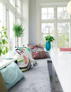 Elegant Essecke Gestalten   20 Wunderschöne, Gemütliche Ideen Für Ihre Küche  Esstisch Weiss, Weißer Esstisch