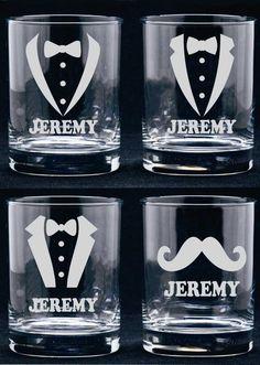 Personalized Groomsmen Glass