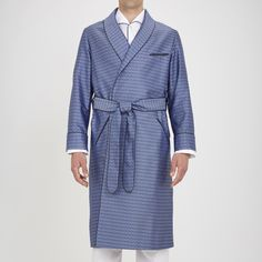 Mens Silk Pajamas, Men's Robes, French Cuff Shirts, Smoking Jacket, Silk Gown, Lounge Wear, Blues, Kimono, Marriage