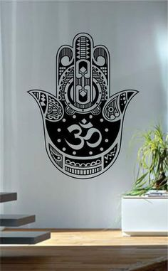 Hamsa Hand The latest in home decorating. Beautiful wall vinyl decals, that are simple to apply, are a great accent piece for any room, come in an array of colors, and are a cheap alternative to a cus