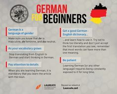If you are planning on learning German, whether it is por personal interest or you are travelling as an exchange student to BTK Berliner Technische Kunsthochschule or BiTS Iserlohn, these are some tips you should have in mind. Learning German, German Language Learning, Language Study, Language Lessons, Learn A New Language, Foreign Language, German Grammar, German Words, The Good German