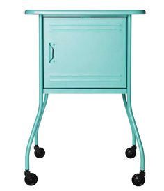 New stuff at Ikea! I need two if these bedside tables!Poppytalk - The beautiful, the decayed and the handmade: Sneak Peek! New IKEA Products for February! Bedside Table Ikea, Bedside Table Design, Ikea Table, Aqua, Turquoise, Painted Furniture, Home Furniture, New Blue, My New Room