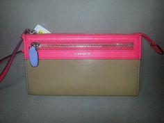 Coach Legacy Wristlet 48176 Watermelon Leather Phone Purse Designer $79