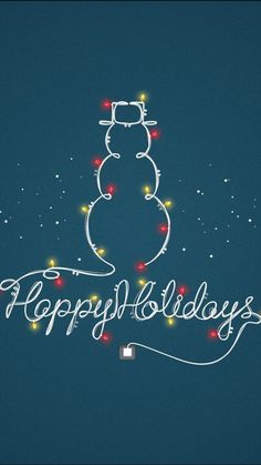 Happy Holidays Light Decoration Snowman iPhone 6 Wallpaper