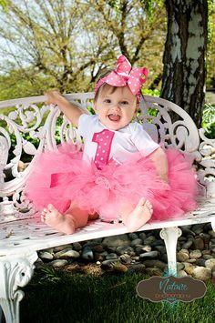 Hot Pink Princess Tutu Set inlcudes onsie tutu by KirrasBoutique, $35.95--I like the pink one!
