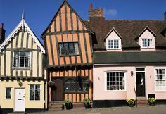 The crooked house in the crooked town of Lavenham, England.