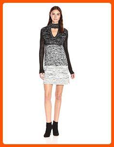 MINKPINK Women's Spectrum Ombre Sweater Dress, Black/White, X-Small - All about women (*Amazon Partner-Link)