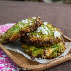 Broccoli Feta Fritters