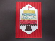 Sconebeker Stempelscheune - Stampin up Sets :  Build a Birthday, Cupcake Party, Brushstrokes,