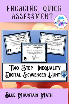 Looking for a fun, engaging activity that gets the kids moving and talking about math? In this resource, students practice solving two step inequalities and you can choose between a printed activity or digital (self-grading) activity. The printed activity works great in the classroom while the digital activity can be used for distance learning or absent students.