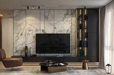 Ciemne meble w salonie Modern Tv Room, Modern Tv Wall Units, Modern Living, Minimalist Living, Home Room Design, Interior Design Living Room, Living Room Decor, Tv Unit Interior Design, Living Rooms