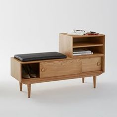 Couloir banc de rangement porte d 39 entr e si ge en bois - La redoute meubles rangement ...
