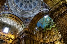 The gilded churches of #Quito. #Ecuador #architecture #travel #religious