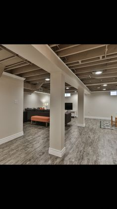 Unfinished Basement Ideas – Lots of home owners integrate a basement to their house. However, the basement is often designed ineffectively, reducing its functional value. Many of home owners do not … Read More - Framing Basement Walls, Finishing Basement Walls, Low Ceiling Basement, Basement House, Basement Plans, Basement Bedrooms, Unfinished Basement Ceiling, Rustic Basement, Industrial Basement