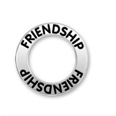 Two Sides Antique Silver Finished Alloy Best Friends Message Affirmation Ring Circle Charm ,friendship message ring charm .