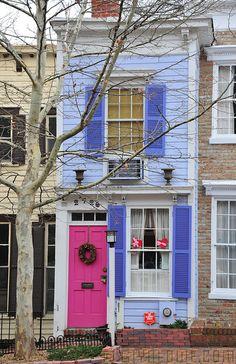 In my old neighborhood of DC     Georgetown House - Washington DC by Glyn Lowe Photoworks, via Flickr