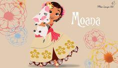 Moana or Vaiana (in French) as a small princess of the Polynesian islands. Accompanied by Pua. Disney Pixar, Walt Disney, Disney Nerd, Cute Disney, Disney Dream, Disney Girls, Disney And Dreamworks, Disney Magic, Disney Movies