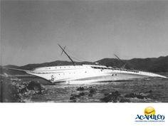#acapulcoeneltiempo Yate El Corsario en Acapulco. ACAPULCO EN LA HISTORIA. El yate El Corsario, era una embarcación que cubría la ruta Los Ángeles – Acapulco – Los Ángeles y contaba con un casino en su interior. A finales del año de 1949, justo en la boca de la bahía, se encontró con una piedra que lo hizo encallar en la Ensenada de los Presos. Te invitamos a descubrir más sobre Acapulco, durante tu próximo viaje. www.fidetur.guerrero.gob.mx