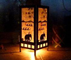Kreativní tvoření - KREATIVNÍ TVOŘENÍ - NÁVODY / LAMPION ze dřeva a ručního papíru