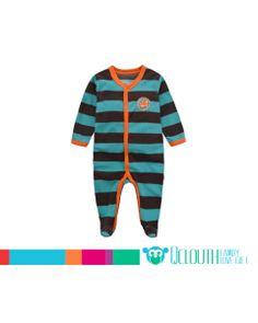 Baby Boy Footed Polar Fleece Striped Pajamas Clothes Green Long Sleeve  Pajama Outfits e41b3c84c