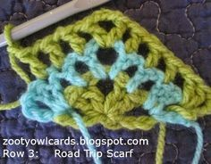Zooty Owl's Crafty Blog: The Road Trip Scarf: Getting Started ༺✿ƬⱤღ http://www.pinterest.com/teretegui/✿༻