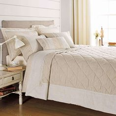 Cushions Oyster Cream CL Home Quilted Taffeta Bedspread Bed Runner