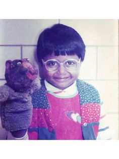 Best Celebrity #TBTs Photos of all time: Mindy Kalings short hair as a kid | allure.com