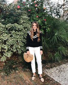 GMG Now Daily Look 1-20-17 RedValentino sweater, J.Crew jeans, Chanel loafers & Cult Gaia bag