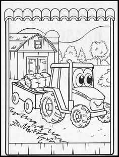 Johnny tractor coloring pages birthday cake ideas for Johnny tractor coloring pages
