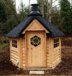 BBQ HUT 4.5 m² Hut Cabin , Timber Log Cabin / Summer House / Garden Office