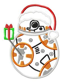 Character Inspired Christmas Star Fight Awakens BB Eight Embroidery Applique Design by OMAdigitizing on Etsy https://www.etsy.com/listing/491401539/character-inspired-christmas-star-fight