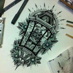 Get light into your home! Tumblr Tattoo, 27 Tattoo, Lamp Tattoo, Lantern Tattoo, Tattoo Outline, Tattoo Pain, Tiny Tattoo, Future Tattoos, New Tattoos