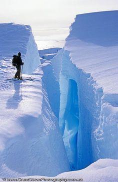 Adventure, Antarctic Peninsula, Antarctica, Colour, Graham Land, Materials, Mountains, Places, Prospect Point, blue, crevasse, edge, glacier, ice, ...