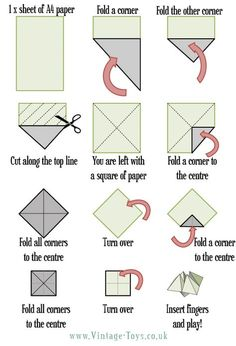 Blank origami fortune teller template the rock for How to make a chatterbox template