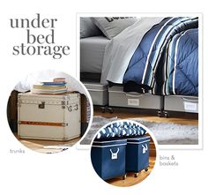 The Ultimate Guide to an Organized Dorm Room: Under bed storage
