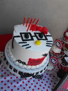 Nerdy Hello Kitty cake