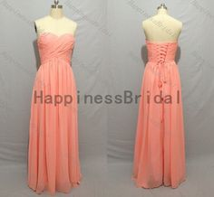 Coral long prom dress,long bridesmaid dress,fashion bridesmaid dresses,simple evening dress,formal evening dress,hot sales dress by HappinessBridal on Etsy https://www.etsy.com/listing/205035299/coral-long-prom-dresslong-bridesmaid