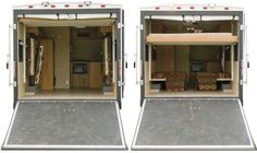 Viking V-Trec sport utility trailer ramp and rear bed arrangement