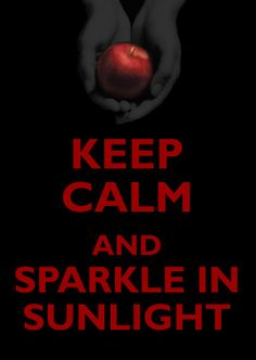 i happen to like vampires sparkling!(That means they are vegetarian-type vampires.)