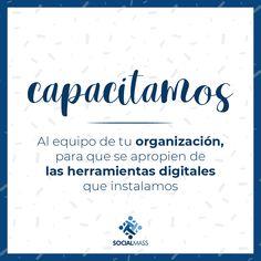 Buscamos no solo crear herramientas digitales, también capacitamos al equipo de tu organización social, para que puedan apropiarse de las herramientas implementadas y las utilicen día a día, sacándole mayor provecho. Contáctanos hoy mismo, y descubre que herramientas tenemos para ti. Math Equations, Socialism, Fundraising, Social Organization, Organizations, Tools, Create