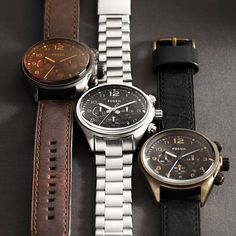 FOSSIL® Watch Collections Flight:Men Flight Leather Watch - Brown CH2782