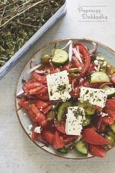 grecka sałatka Caprese Salad, Cobb Salad, Appetizer Recipes, Salad Recipes, Feta, Cooking Recipes, Healthy Recipes, Tzatziki, Keto Meal Plan